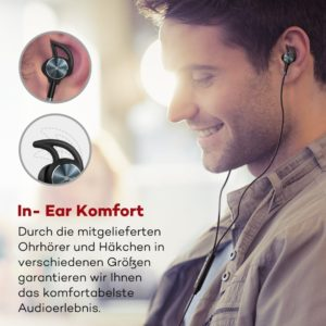 bluetooth kopfhoerer in ear Haken